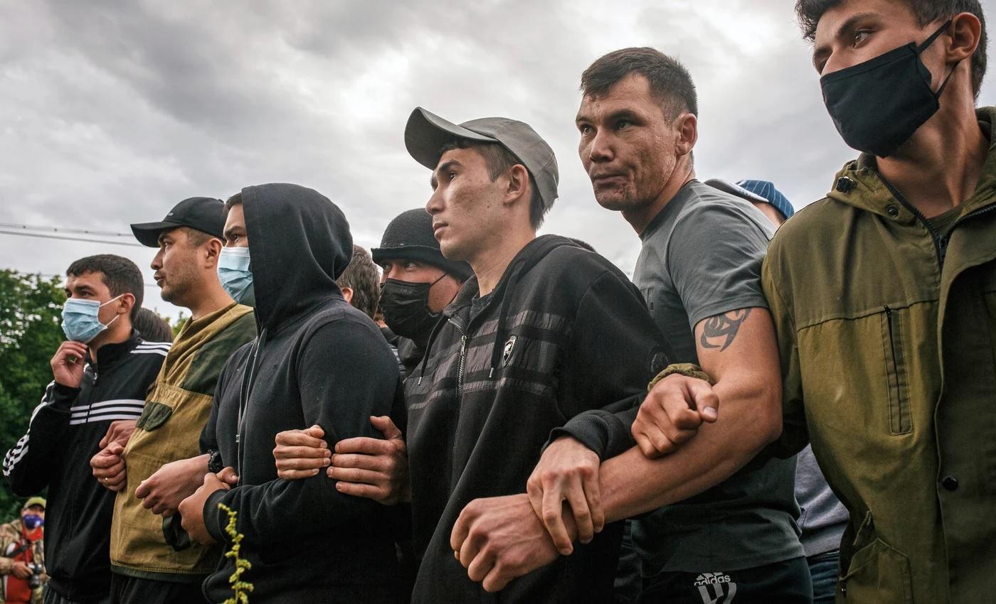 Активисты, выступающие против разработки горы Куштау, 15 августа 2020 года. Фото: Вадим Брайдов / ТАСС